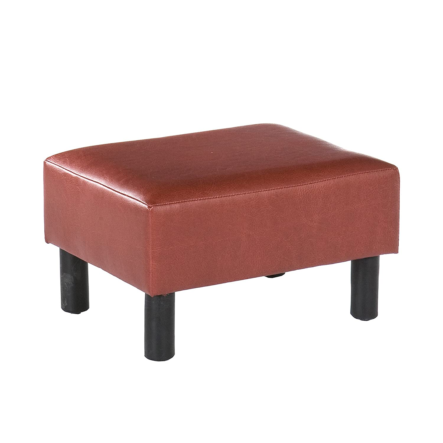 Southern Enterprises, Inc Red Leather Foot Stool