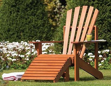 Lot de chaise longue et repose pieds en cèdre massif coloris crème-vanille pour 1 place d'assise -PEGANE-