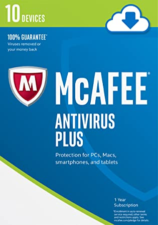 McAfee 2017 AntiVirus Plus-10 Devices [Online Code]