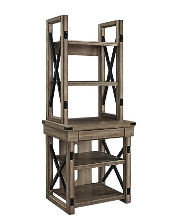 Altra Furniture Wildwood Audio Pier/Bookshelf, Rustic Gray Finish