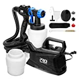 Paint Sprayer, High Power Electric Spray Gun with 3 Adjustable Spray Patterns, 2Pcs 1000ml Detachable Container, 3 Nozzle Sizes - Indoor & Outdoor Painting Projects and Craft by Prostormer