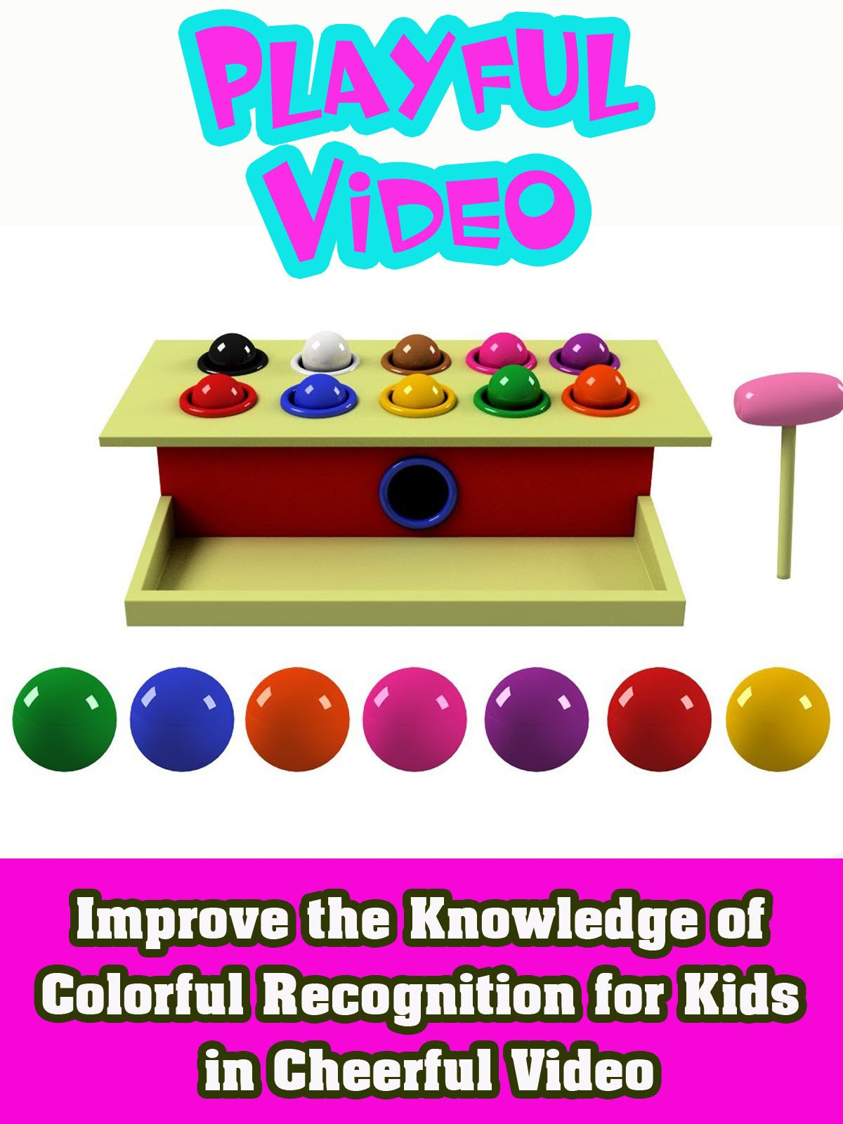 Improve the Knowledge of Colorful Recognition for Kids in Cheerful Video