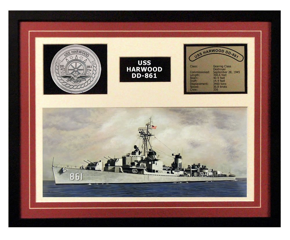 Navy Emporium USS Harwood DD 861 Framed Navy Ship Display торшер leds c4 emporium 25 1858 i1 55