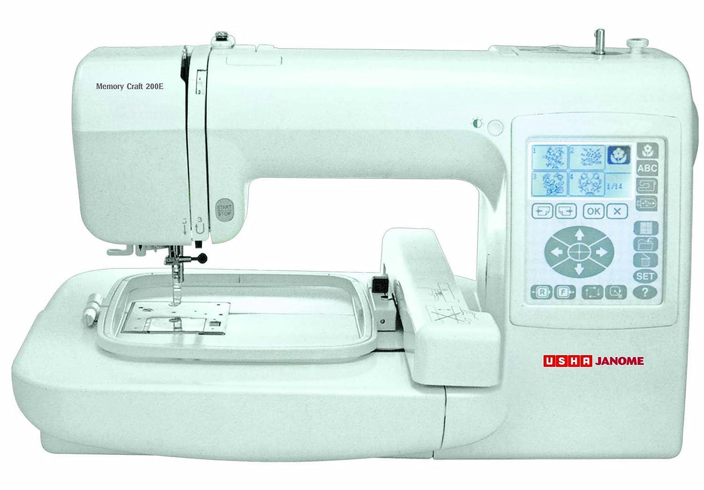 Janome memory craft 9000 - Usha Janome Memory Craft 200e 35 Watt Sewing Machine White