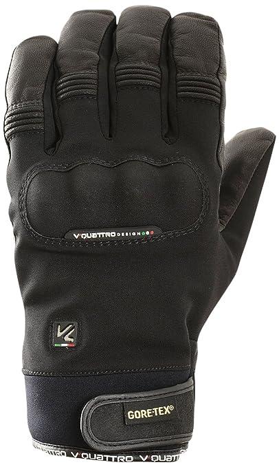 V Quattro Design V4G-COMMUTERGTX2-1-BKL Gants de Moto Commuter 2-1 Gore-Tex Noir Taille L