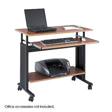 """Safco 1926MO """"Muv"""" - Mesa de ordenador, de altura ajustable, color roble medio"""