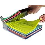 EZSTAX Closet Organizer and Shirt Folder | Regular Size, 20-Pack (Color: Clear, Tamaño: Regular)