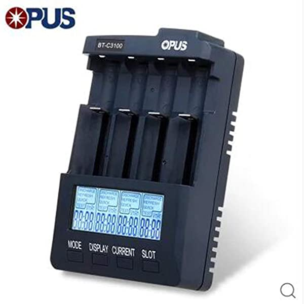 Opus BT-C3100 V2.2 Smart Universal LCD LI-ion NiCd NiMh AA AAA 10440 14500 16340 17335 17500 18490 17670 18650 Battery Charger (Color: multi-colored)
