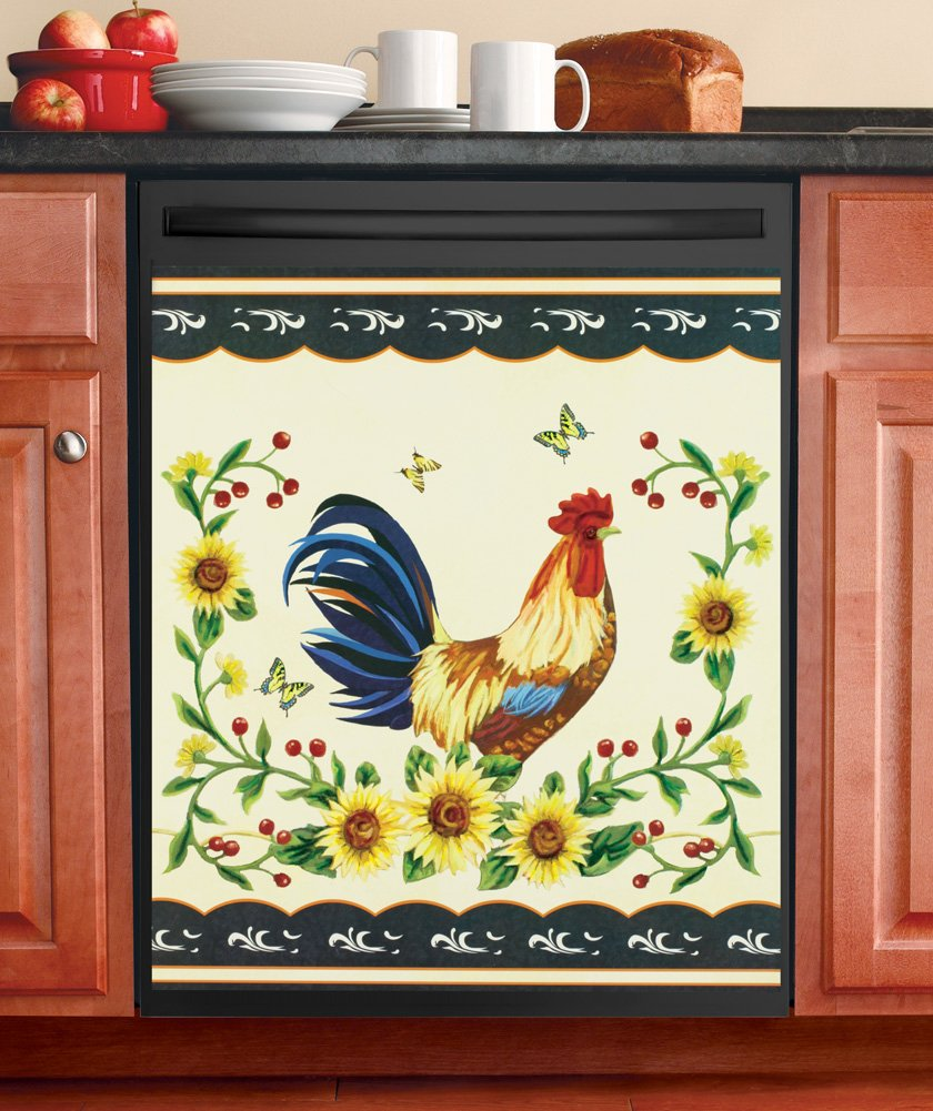 Rooster Dishwasher Magnetic Cover