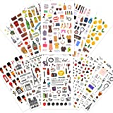 1000Art Planner Stickers Set(12 Sheets / 400+) Clothes,Beauty,Drinks,Travel Life,Emjio,College Planner Stickers for Daily Planner,Bullet Journals,Scrapbooks,Calendars,DIY Arts and Crafts, Album (Color: Classic Sticker Pack-A)