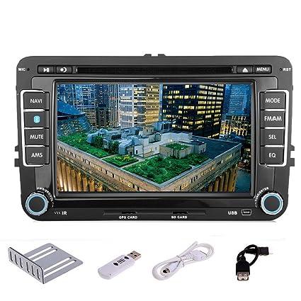 Pupug LCD 3G de DVD del coche de FM / AM estšŠreo reproductor Bluetooth Radio GPS USB / SD para VCD MP3 VW Volkswagen Jetta PASSAT Bluetooth en el tablero del automš®vil Doble accesorios 2 DIN RDS