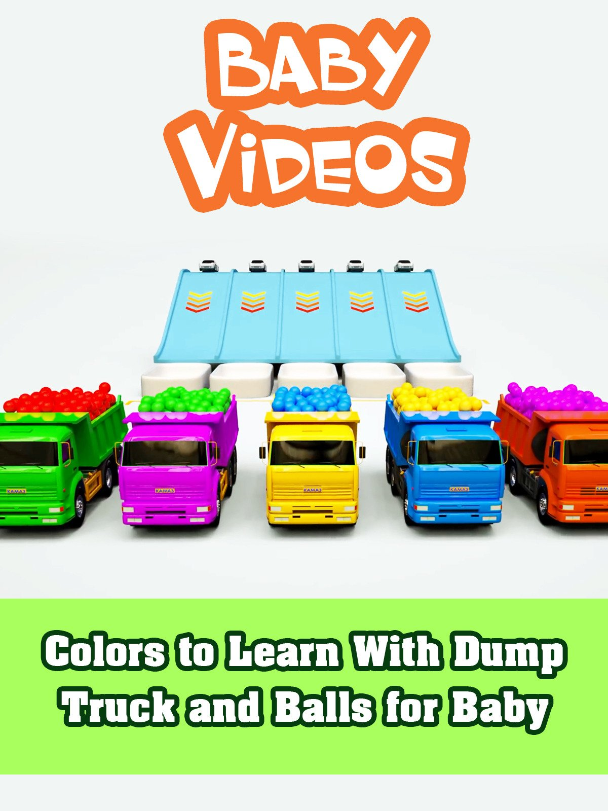 Colors to Learn With Dump Truck and Balls for Baby