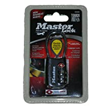 Master Lock 4688DBLK TSA Accepted Cable Luggage Lock, Black