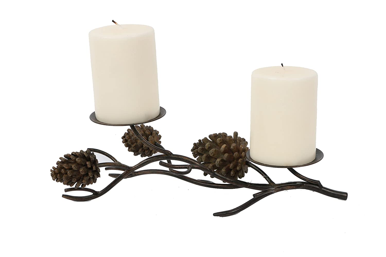 Christmas pine cones candle holders christmas wikii for Christmas pillar candle holders