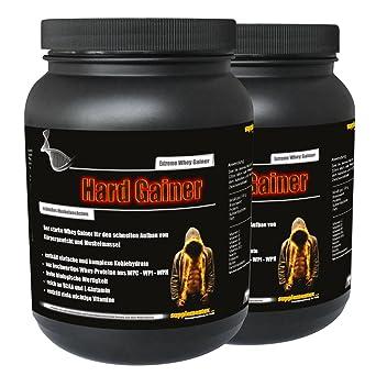NEU! Hard Gainer Cappuccino 2x1000g Dose - Extreme Whey Gainer Wettkampfprotein Kohlenhydrate Eiweiß Masse und extremer Muskelaufbau
