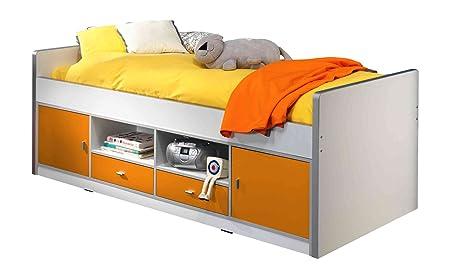 VIPaCK BOKB9011 Berth Bed Bonny Approx. 77 x 207 x 98 CM, Bed 90 x 200 CM, 11, White / orange