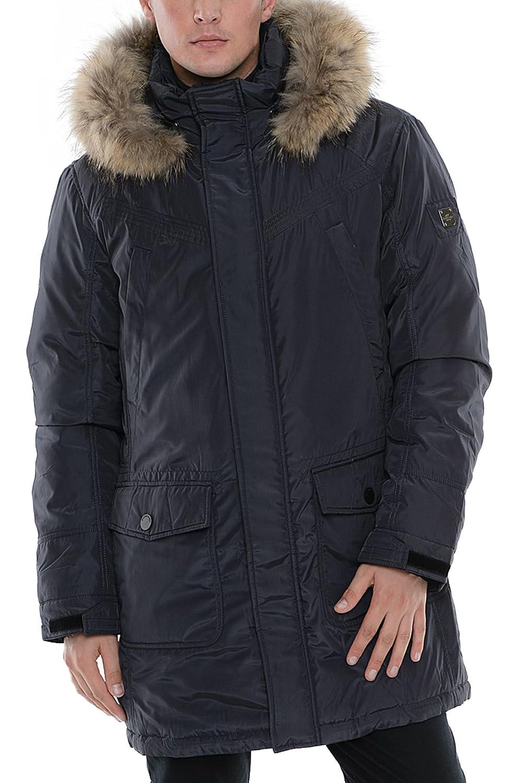 "SIDM-B701 Herren Daunenjacke ""SNOWIMAGE"" ALASKA mit Echtfellkapuze (Länge ca.90-95 cm) blau jetzt bestellen"