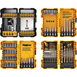 DEWALT DWA2FTS100 Screwdriving and Drilling Set, 100 Piece (Color: Black/Grey/Yellow Screwdriving and Drilling Set, 100 Piece, Tamaño: 100 pieces)