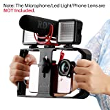ULAN PRO RIG PRO SMARTPHONE Video Rig, iPhone Filmmaking Case, teléfono Video Stabilizer Grip Soporte de video para Videomaker Film-maker Video-grapher para iPhone X 8 Plus Samsung