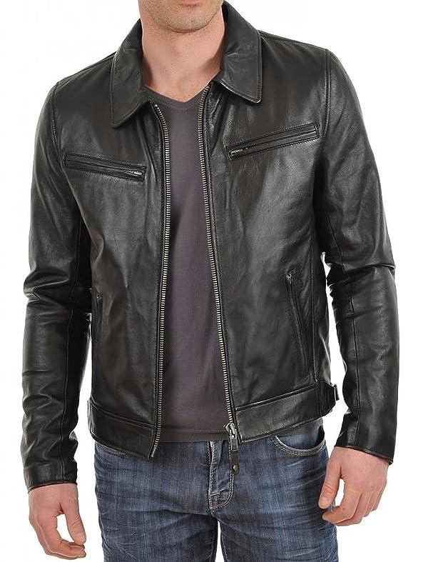 Genuine 1510059 Leather Jacket Lambskin Men's Black Laverapelle ZBw0qE7
