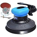 6-Inch Random Orbit Air Palm Sander, Dual Action Pneumatic Polisher with 10pcs Sanding Discs Pad & Protective kits