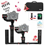 FeiyuTech a1000 Dual Handheld Gimbal Kit, Payload Upgrade to 150-1700g, for Sony a series RX  Series Cameras, Panasonic G7, iPhone X 8, Samsung S8, GoPro Hero 6 5, with carrying case and 16 GB SD Card