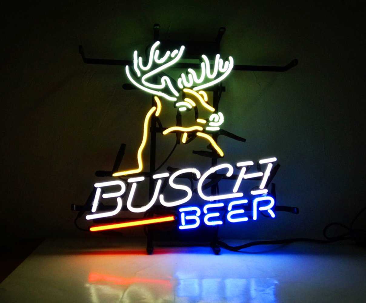New Neon Signs Busch Beer for Bar Pub Home Hotel Beach Cocktail Recreational Game Room Decor 16