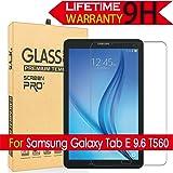 Galaxy Tab E 9.6 Glass Screen Protector, (T560) AnoKe(0.3mm 9H) [Case Friendly] Tempered Glass Screen Protector - Bubble Free for Samsung Galaxy Tab E 9.6 / SM-T560 Glass (Color: Galaxy Tab E 9.6 T560)