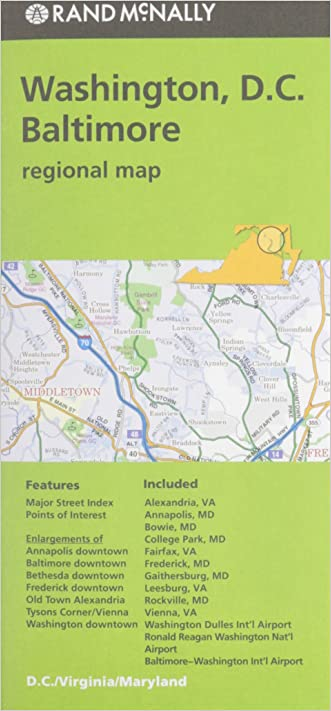 Rand McNally Folded Map: Washington, D.C. & Baltimore (Regional Map)