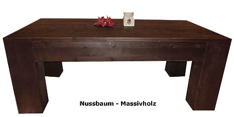 Madera maciza de nogal mesa de centro de diseño, calidad Schreiner * nuevo*