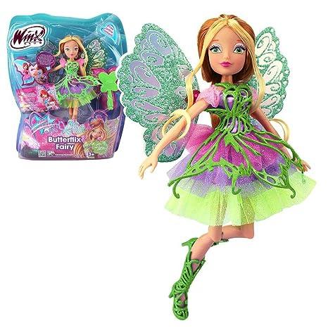Winx Club - Butterflix Fairy - Flora Poupée 28cm avec magique Robe