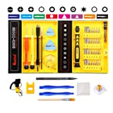 Kaisi 46-Piece Precision Screwdriver Set with Magnetic Driver Kit, Electronics Repair Tool Kit Professional with Strong Case for Repair Cell Phone, iPhone, Tablets, Laptops, PC, MacBook and More (Color: 4601-CRV)