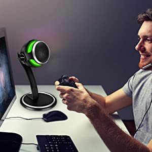 USB Computer Microphone,Aokeo Storm Professional Studio Condenser Games Microphone for Chatting/Skype/YouTube/Recording/Gaming/Podcasting for iMac PC Laptop MacBook Playstation (Color: Computer Microphone)