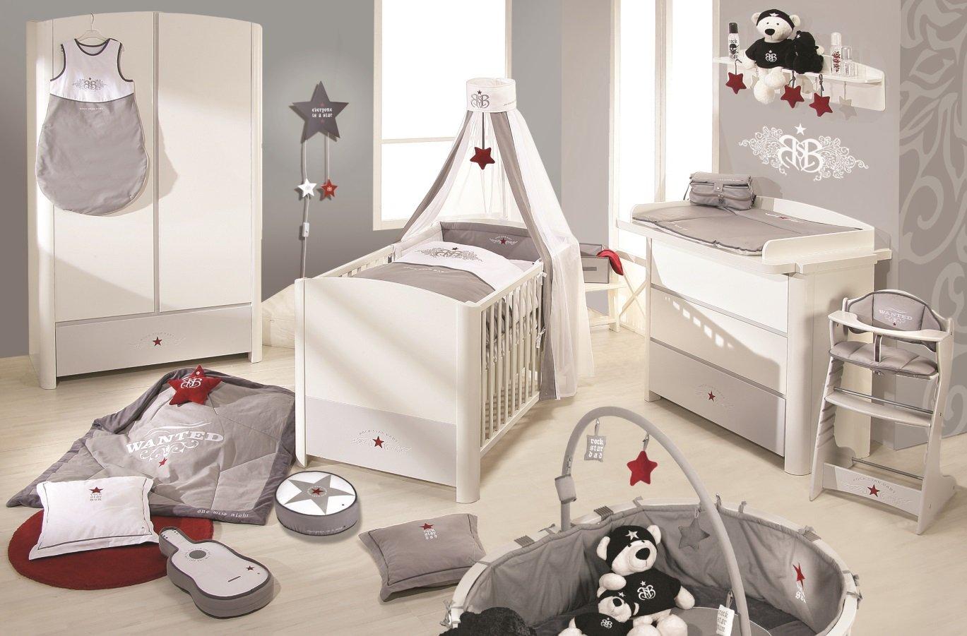 Roba 38101 - RSB Kinderzimmer Komplett-Set mit 3-türigem Schrank, Wickelkommode und Bett (ohne Textilien)