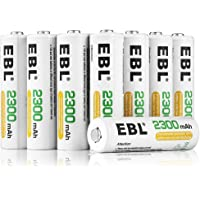 EBL AA 2300mAh Ni-MH Rechargeable Batteries, 16-Count