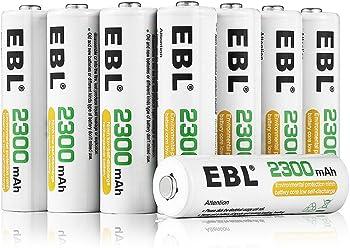 EBL AA 2300mAh Ni-MH Rechargeable Batteries