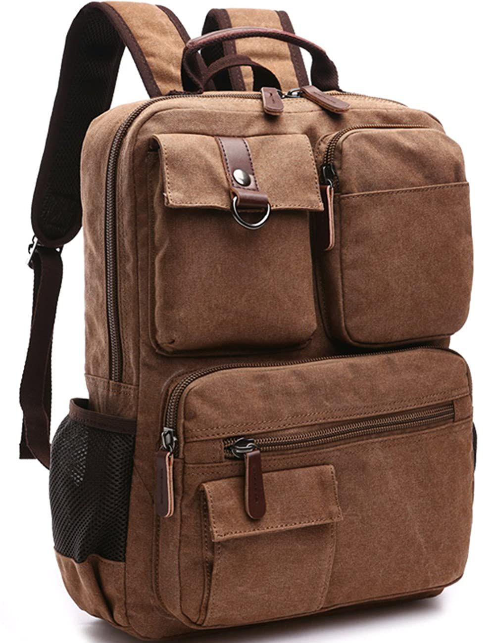 Aidonger Vintage Canvas School Backpack Laptop Backpack 0
