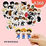 QUIETTER Kawaii Kpop BTS Bangtan Boys Stickers For Luggage Cup Notebook Laptop Car Fridge DIY Stickers (A368) (Color: A368)