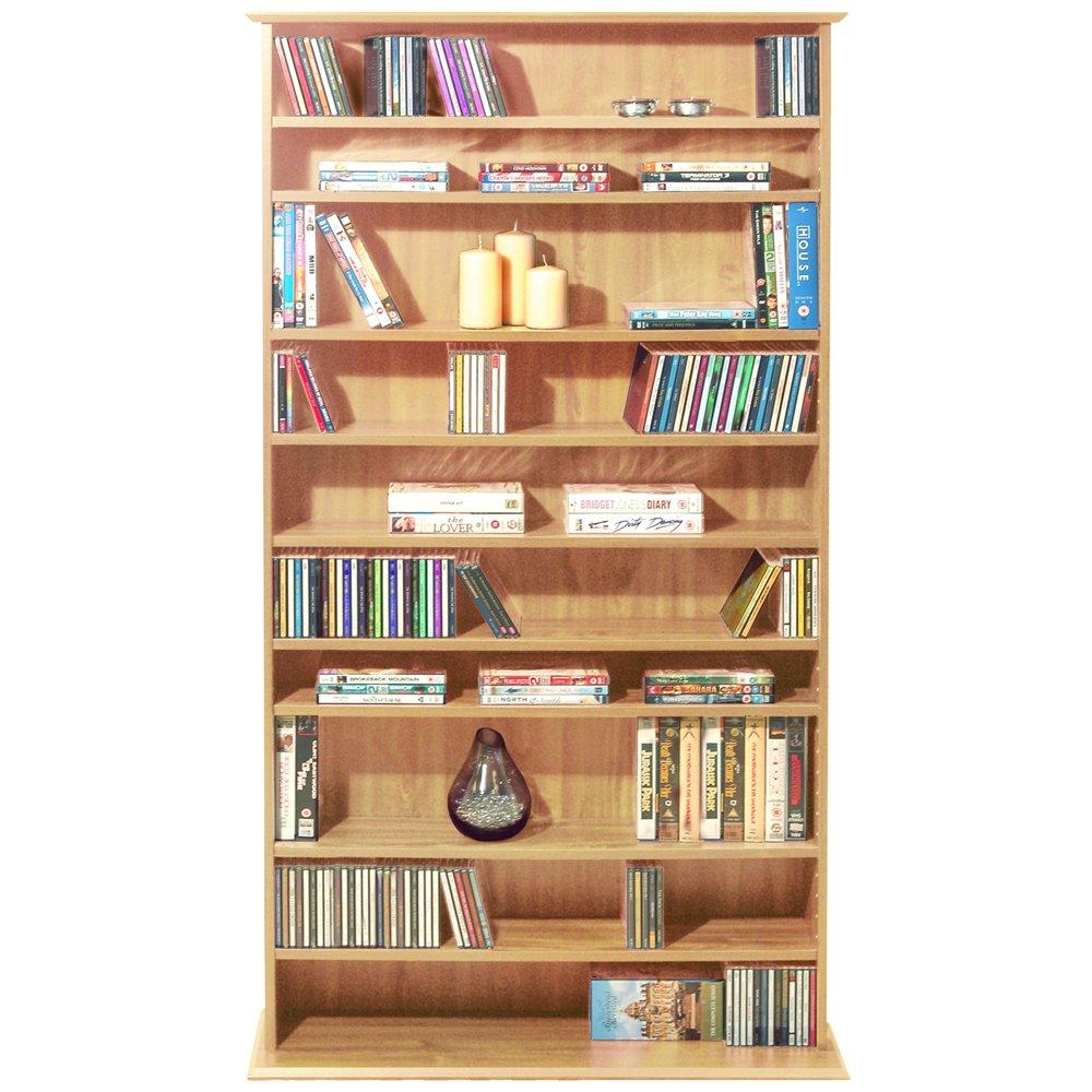 HARROGATE   CD / DVD / Blu ray Media Storage Shelves   Beech       Customer review and more information