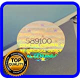 180 pcs Hologram labels with serial numbers, warranty stickers seals round .59 inch (Color: Silver)
