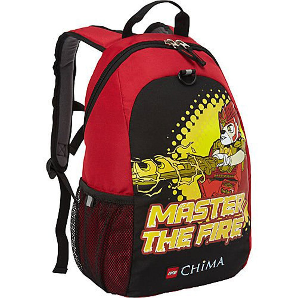 Lego Backpack Master of Fire Chima Child's Full Size Black and Red crusade vol 3 the master of machines