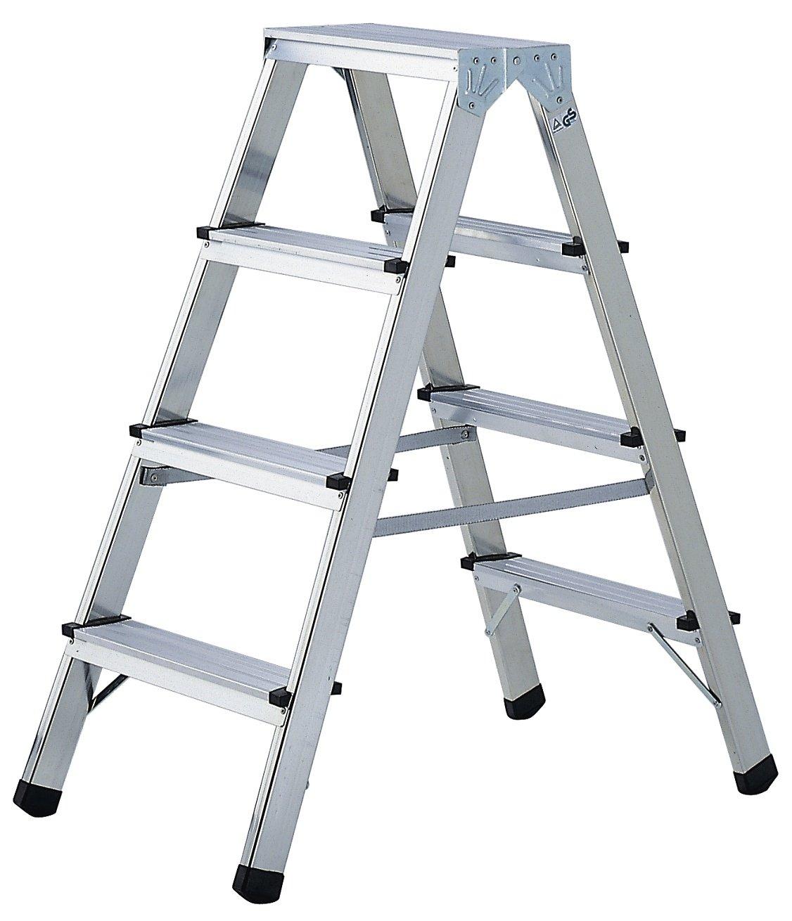 Brennenstuhl 1412040 Doppelstufenleiter Aluminium Handwerkerqualität 2 x 3 Stufen  BaumarktKritiken und weitere Infos
