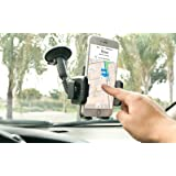 360°Rotating Gooseneck Car Windshield Mount Holder Stand Bracket for Mobile Cell Phone GPS iPhone 5 6 7 8 X Samsung Galaxy S8 Edge S7 S6 Note MP3 PDA