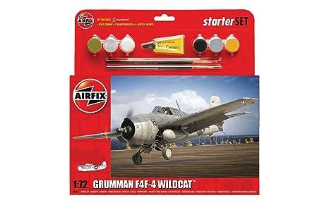 Airfix - Ai55214 - Grumman Wildcat F4f-4 - Kit De Démarrage - 58 Pièces - Échelle 1/72
