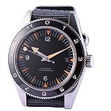 41mm Black Sterile Dial Ceramic Bezel Sapphire Glass 21 Jewels Miyota Automatic Movement Men's Watch (Color: Black)