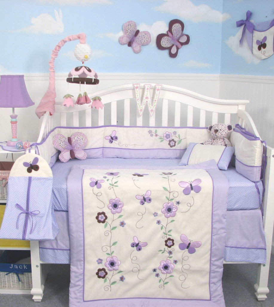 Soho Lavender Flower Garden Baby Bedding Collection Baby Bedding And Accessories