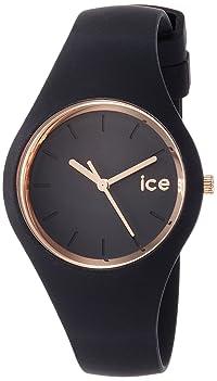 ICE-WATCH アイスグラム - ブラック ローズゴールド -スモール ICE.GL.BRG.S.S.14 【正規輸入品】