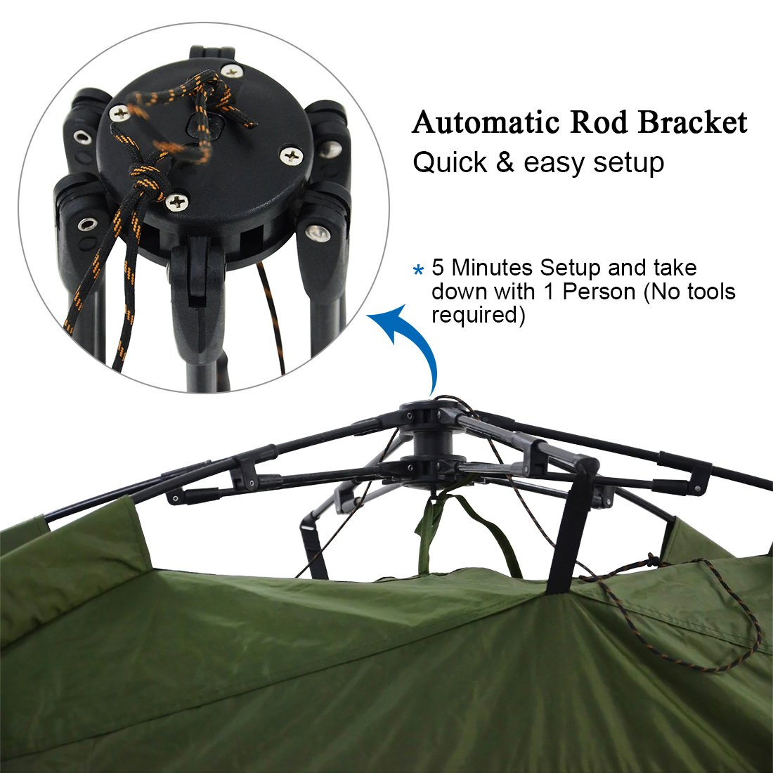 Quictent Heavy Duty Outdoor Pop Up Bike Tent Storage Shed Quick Setup Garage with Automatic rod bracket, Waterproof and Anti-UV Protection Hood (Bike tent)