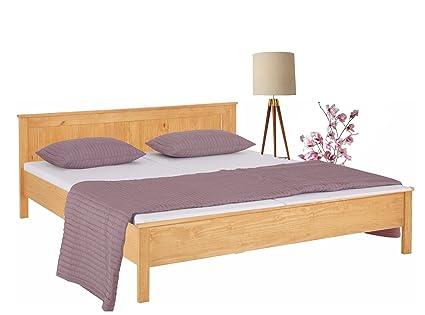 Bett PULLMANN aus Kiefer (180x200 cm, gebeizt geölt)