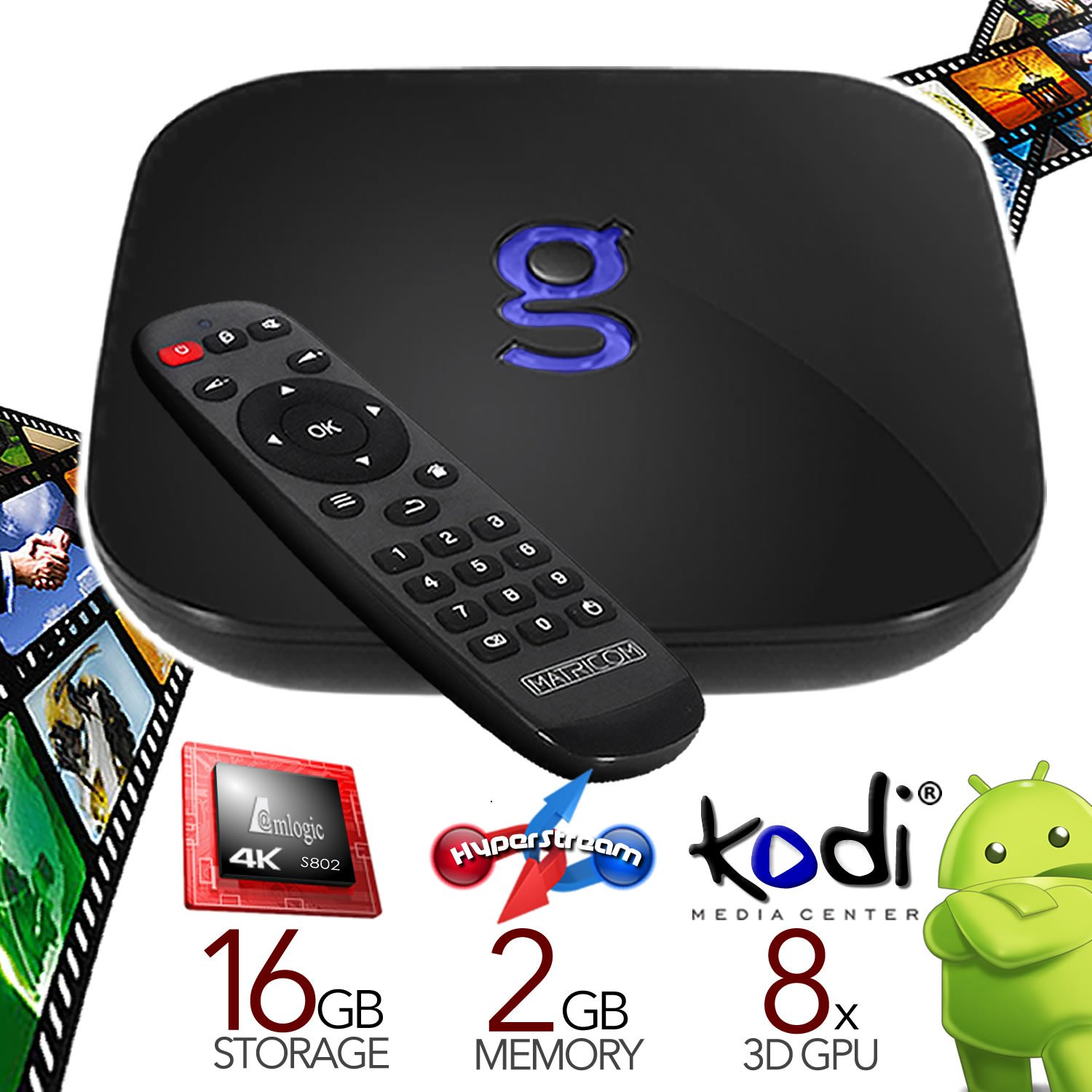 Matricom G-Box Q Quad/Octo Core XBMC/Kodi Android TV Box (2GB/16GB/4K)